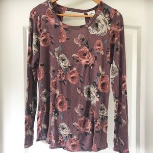 Daytrip floral long sleeve blouse
